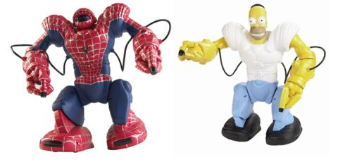Homer ja Spiderman robosapien
