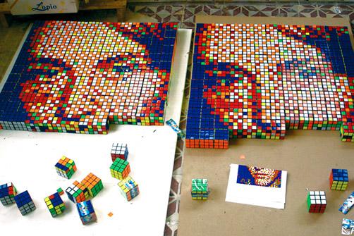 Rubikin kuutio taideteos