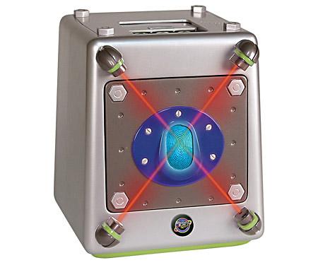 Hälyttävä kassakaappi laserliiketunnistimella