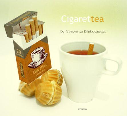 Cigarettea - tupakan näköisiä teepusseja