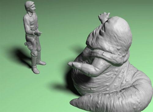 3D skannaus han solo jabba hut