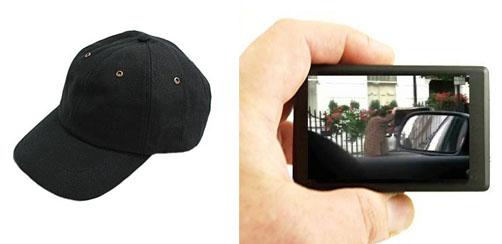 Lippalakkiin integroitu digitaalivideokamera