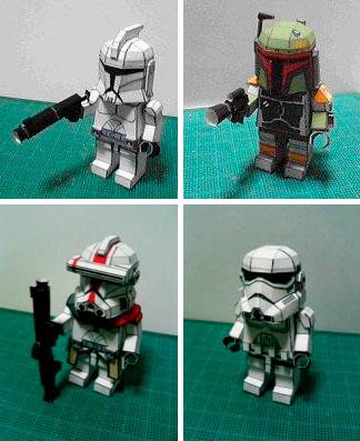 Askartele itse Tähtien Sota leluja paperista