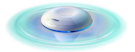 JVC XA-AW33-W - Kelluva MP3 soitin kylpyammeeseen aaltoefekteillä
