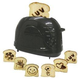 Pop-taide leivänpaahdin paahtaa paahtoleipään kuvioita