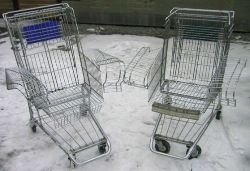 ostoskori tuoli metallitaide