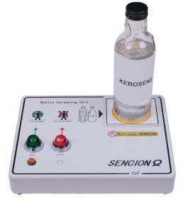 Vaaralliset nesteet pullon läpi tunnistava laite