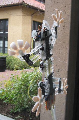 Seinillä kiipeilevä Gekko robotti