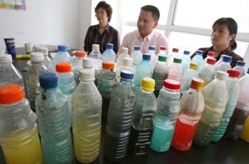 Vesinäytteitä Kiina joki