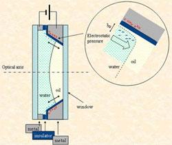 Saksalaiset tiedemiehet ovat kehittäneet zoomaavan nestetäytteisen linssin