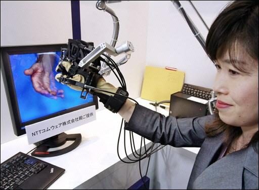 Japanilainen yritys on kehittänyt hansikkaan, jonka avulla on mahdollista tunnustella kolmiulotteisia malleja ruudulla