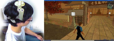 Second Life avatarin ohjailua ajatuksen voimalla
