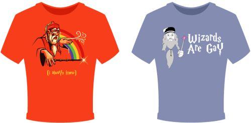 Dumbledore gay pride - T-paitoja
