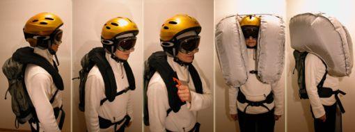 Lifebag - reppu turvatyynyillä extremeurheilijoille