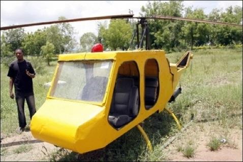 Nigerialainen fyysikko rakensi itselleen toimivan helikopterin romusta