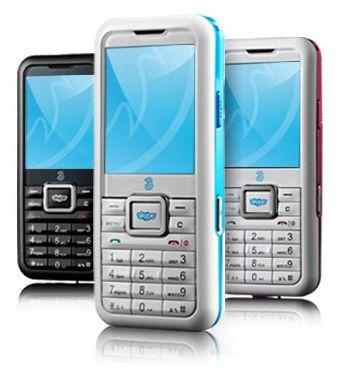 Ensimmäinen Skype-kännykkä nimeltään 3 Skypephone on esitelty