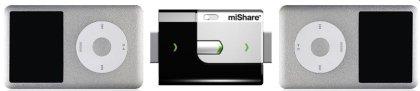 MiShare mahdollistaa tiedostojen siirron kahden iPodin välillä