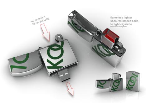 USB-littimestä ladattava tupakansytytin