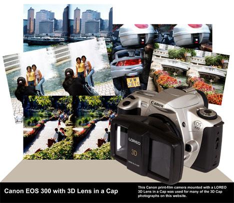 Loreo 3D Lens -lisälaitteellä voi kuvata stereoskopiakuvapareja