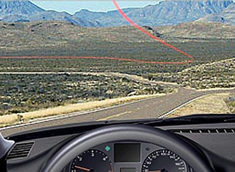 MVS Virtual Cable -prototyyppi muuttaa tuulilasin navigaatiolaitteeksi