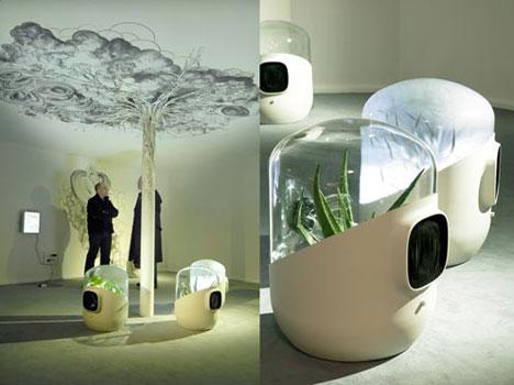 Plants Power Bel-Air, orgaaninen ilmasuodatin, suunnittelijana Mathieu Lehanneur