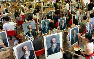 Kiinassa kokonainen kylä jäljentää maalauksiaKiinassa kokonainen kylä jäljentää maalauksia