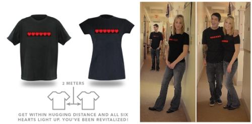 8-Bit Dynamic Life Shirt näyttää sydänenergiat