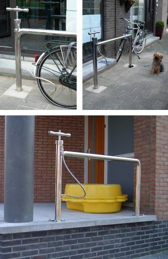 Pyörätelineen ja pumpun yhdistelmä :)