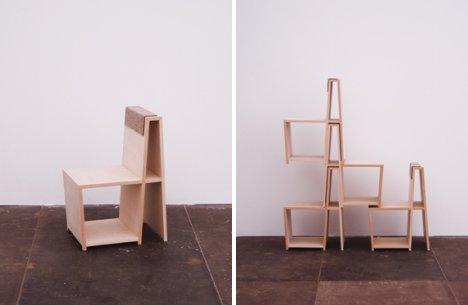 Uudenlainen pinottava tuoli