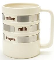 Drink Selector Mug kertoo kahvitottumukset