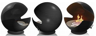 Vauni Globe on etanolia poltteleva pac-man-grilli
