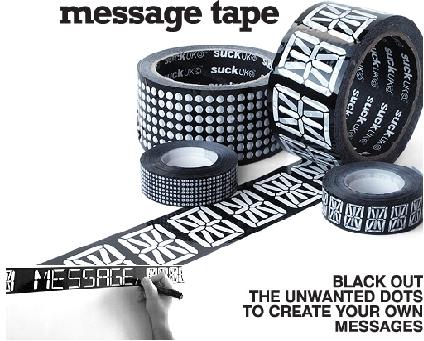 Message Tape -pakkausteippi