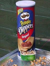 Tee-se-itse lintulauta Pringles purkista ja sardiinipurkista