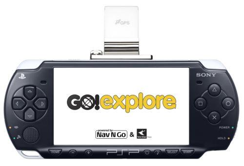 PSP Go!Explore - GPS navigaattori Sonyn PSP pelikonsolille