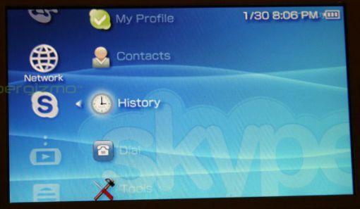 Skype julkaistu Sony PSP konsolille