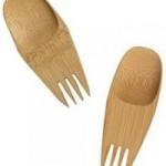 Kompakti spork eli lurukka on tehty bambusta