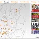 Newseum tarjoaa mahdollisuuden seurata maailman uutisotsikkoja