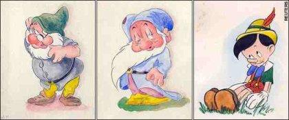 Adolf Hitlerin piirtämiä Disney-hahmoja