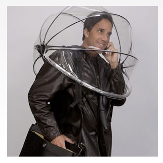 Nubrella on kahvaton sateenvarjo