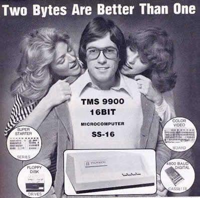 Kotitietokoneensta työjätti 16 kilotavun muistilla ja muita vanhoja tietokonemainoksia