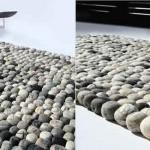 The Pebble Rug -matto näyttää kiviseltä