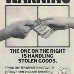 Anti-piratismikampanjointia vuodelta 1989