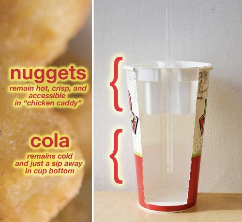 Col-Pop on sekä muki, että kananugettirasia