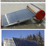 Aurinkoenergiaa hyödyntäviä vedenlämmittimiä