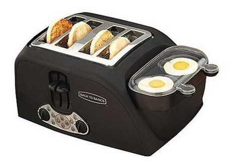 Yhdistetty munankeitin-leivänpaahdin huolehtii aamiaisesta