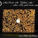 Kullalla ja kristallilla pimpattu Macbook Air