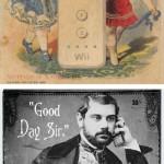 Nykyaikaiset tuotteet vintagemainoksina