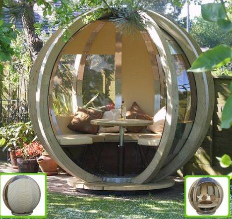 Rotating Sphere Lounger on pyöreä pyörivä huvimaja