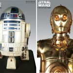 Täyden koon R2-D2 ja C-3PO