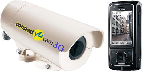 ConnectVu-Cam-3G -kameraa ohjataan ja seurataan kännykällä